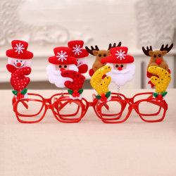 사랑스러운 크리스마스 장식적인 유리 프레임 다중 패턴 산타클로스 눈사람 선물