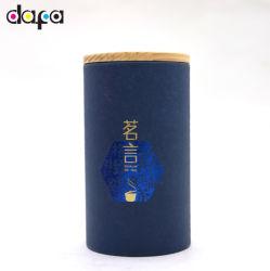 Золото тиснение логотипа печати во всем мире подарок крышки банок бумаги df756
