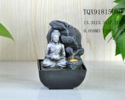 De grijze Zilveren Fontein van het Water van de Lijst van Boedha van de Hars