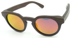 Fw17207 barato al por mayor gafas de sol de bambú MOQ bajo el logotipo de láser