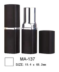 Leerer quadratischer Aluminiumlippenstift-Kasten