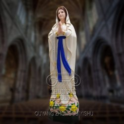 새로운 프로세스 동상 교회 조각품을 새기는 착색된 메리 대리석