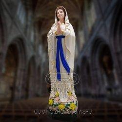 新しいプロセスはメリーを塗られる大理石の彫刻の彫刻を彫刻する彫像を着色した