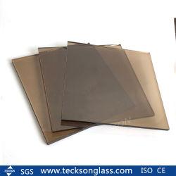 10mm d'euros /Brown teinté de bronze de verre flotté en verre pour Windows