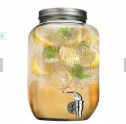 Logo glacée jus de verre Ensemble distributeur de boissons