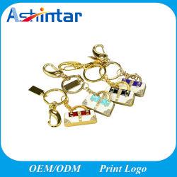 Mémoire flash USB en métal Mini sac à main Bijoux lecteur Flash USB