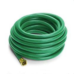 PVC renforcé par une tresse en fibre souple flexible du tuyau de l'eau de jardin avec connecteur en laiton