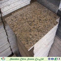 Matériau de construction Tigre de carreaux de granit de la peau jaune/brames ou vanité haut/carreaux mural/de comptoir