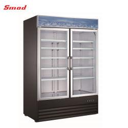 Frigorifero di vetro del portello della bevanda del dispositivo di raffreddamento verticale freddo della visualizzazione per il supermercato