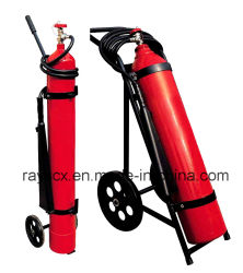 10kg/25kg CO2 Ruedas/tranvía extintor de incendios
