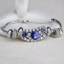 Mode tresse en alliage de bracelet Bracelet Cristal élégant