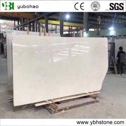 중국 공장 1.6mm 두께 1.8mm 광택 베이지 버두르 아란 화이트 베이지 대리석 슬랩/호텔 바닥용 뉴크림 마블 대리석 슬랩 타일/벽