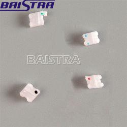 Roth 022 engancha el corchete de cerámica ortodóntico dental bajo de 3 acoplamientos