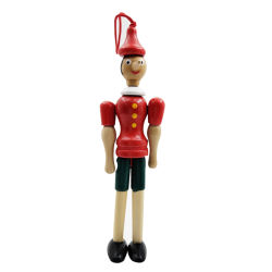 دمية الأنف الخشبية Pinocchio طويلة والتي يمكن أن تكون على شكل غير متناسق