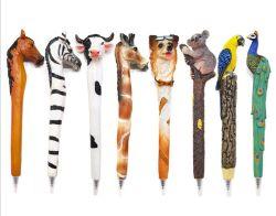 Custom Hot vender em forma de animal canetas de resina
