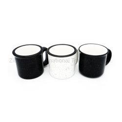De in het groot Mok van de Koffie van het Email van de Rand Zwarte Kleur Verglaasde Ceramische