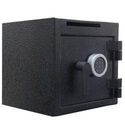 Caja fuerte electrónica con ranura de monedas para colocar dinero en efectivo