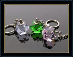 幾何学の水晶キーホルダー(KC02)