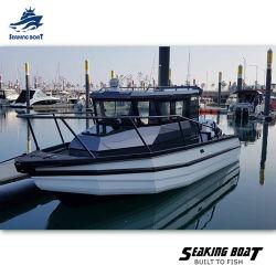 2020 Verkaufs-Australien-weiße graue Motor-Farben-materieller Ursprungs-Typ Höhe des Sport-Fischerboot-Rumpf-Mitte-Kabine-Aluminium-25FT 7.5m V