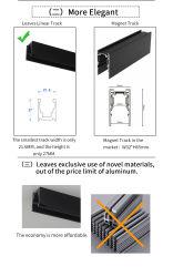 إضاءة الجنزير المغناطيسي الجديدة الحاصلة على براءة اختراع للمواد بدون مغناطيسي أنبوب مصباح ضوء الغمر الخاص بالغاسلة الممتصّ بالحائط منخفض ضوء الغمر DC48V منخفض الجهد أكثر أمانًا