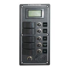 Interrupteur à bascule de bateau étanche panneau indicateur à LED rouge 5 Gang LCD (PN-LB5Z/VS)