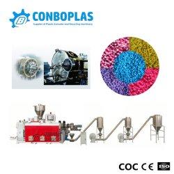 Wholesale extrusionadora de husillo doble de plástico de PVC de doble cara de morir de corte en caliente de peletización rallar la línea de reciclado de compuesto de