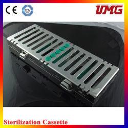 Cassete de esterilizador inoxidável amplamente utilizado instrumento de base de dentista
