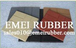 Durable et stable de la brique de plancher de caoutchouc recyclé pour la zone publique