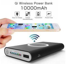 Drahtlose Aufladeeinheitaktivierte bewegliche Qi-Energien-Bank für iPhone für Samsung für den ganzen Qi Decices 10000mAh