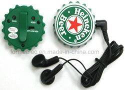 La tapa del vaso de bebida Mini radio FM para la promoción regalos electrónica