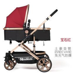 Korbwiege-Baby-SpaziergängerReversible alles Gelände - Cynebaby Vista Stadt-auserwählte Spaziergänger für Säuglingskleinkindpram-Kinderwagen EVA-Gummireifen