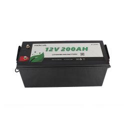 Polinovel de ciclo profundo 12V 200Ah recargable prismático al por mayor de iones de litio Solar LiFePO4 battery