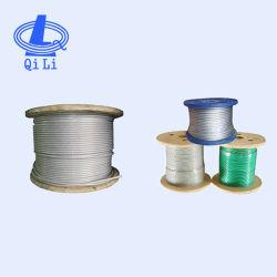 Le plastique PVC PE PA PA612 Nylon enduit de vinyle aéronefs Câble en acier galvanisé