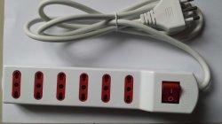 6 Energien-Streifen-Extensions-Kontaktbuchse des Anschluss-16A/250V Italien mit Schalter