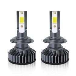 Envío rápido F2 Chip COB H1 H3 H4 H7 Auto LED BombillaH11h13 Coche Faro de luz LED 9005 9006 8000K encendido automático de luces LED Coche faro