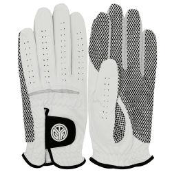 Luvas de golfe respiráveis antiderrapantes em pele para homem ′ S.