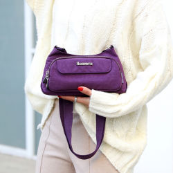 Корея новый дизайн воды Оксфорд нейлон леди сумки через плечо сумочку на молнии сумки через плечо
