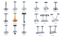 Aço inoxidável ou perna de metal cromado para barra de mobiliário de mesa de jantar