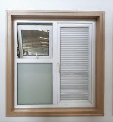 コンシュのプロフィールシャッターWindows PVC Obsured固定UPVC Awining Windows