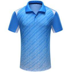 Polo-Hemd der Frauen des Digital gedruckten Dri passenden T-Shirt Promoion Mannes