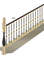 Верхний и нижний симметричных поручни с центральной декоративной шарового шарнира рулевой колонки