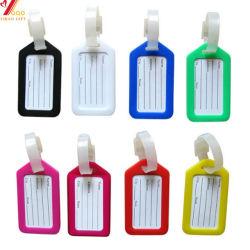 Fabrication de personnaliser la taille standard transparent coloré promotionnel 3D Matériel PVC Souple Luggage Tag voyager en avion Luggage Tag (YB-LP-001)