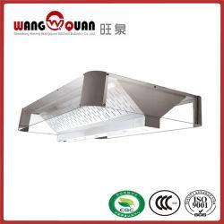 Restaurante comerciales personalizadas de montaje en pared de la cocina de humo de escape de acero inoxidable rango/campana