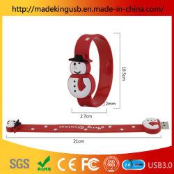 Creative Snowman Armband USB Flash Drive/ Weihnachten Geschenk PVC Armband Armband USB Stick Factory Großhandel Direktverkauf