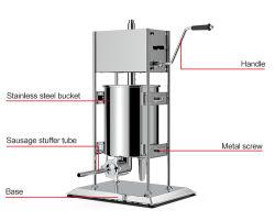 Manuel de bouchon de remplissage/Suasage verticale de la saucisse de farce de tasseur de machine/saucisse