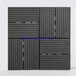 Portello esterno di Decking delle mattonelle di pavimento di WPC DIY delle mattonelle delle mattonelle dello strato esterno esterno di legno delle mattonelle