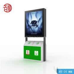 OEM ODM Desplazamiento LED Publicidad Caja de luz con la Papelera de reciclaje basura