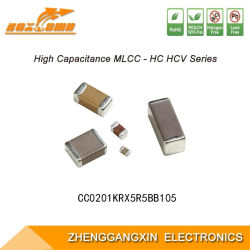 0201 1UF ± 10% 6.3V X5r Chip multicamada SMD Capacitor cerâmico multicamadas