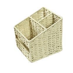 El papel de tejido de la cuerda de Almacenamiento de Tablas de maquillaje del organizador de la cesta