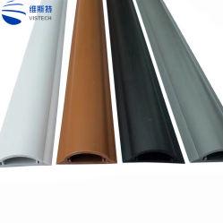 신형 브라운 PVC 지면 전기 플라스틱에 의하여 배열되는 케이블 중계